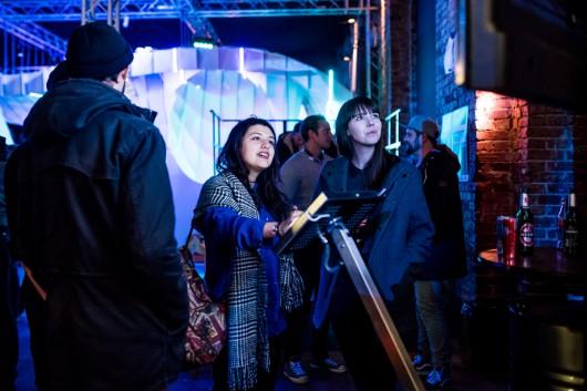 Die Gäste konnten sich Behance Portfolios von Künstlern aus der Umgebung anschauen.