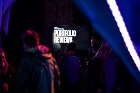 Das Behance Portfolio Review war teil des Abends und wurde vom Publikum sehr gut angenommen.