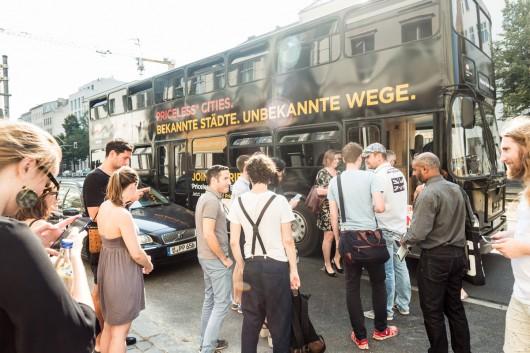 Der Andrang für die Bustour war groß.