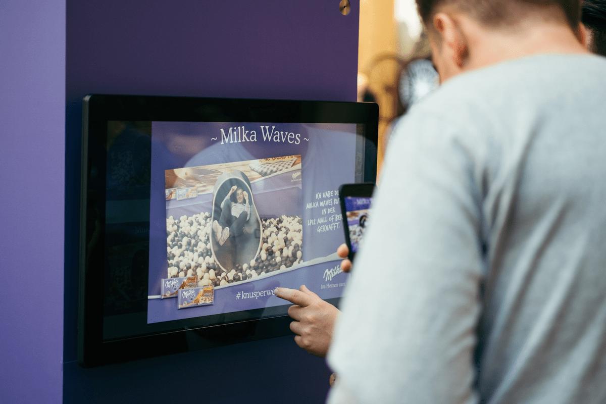 An der Social Box konnten sich die Besucher ihren Schnappschuss ausdrucken lassen.
