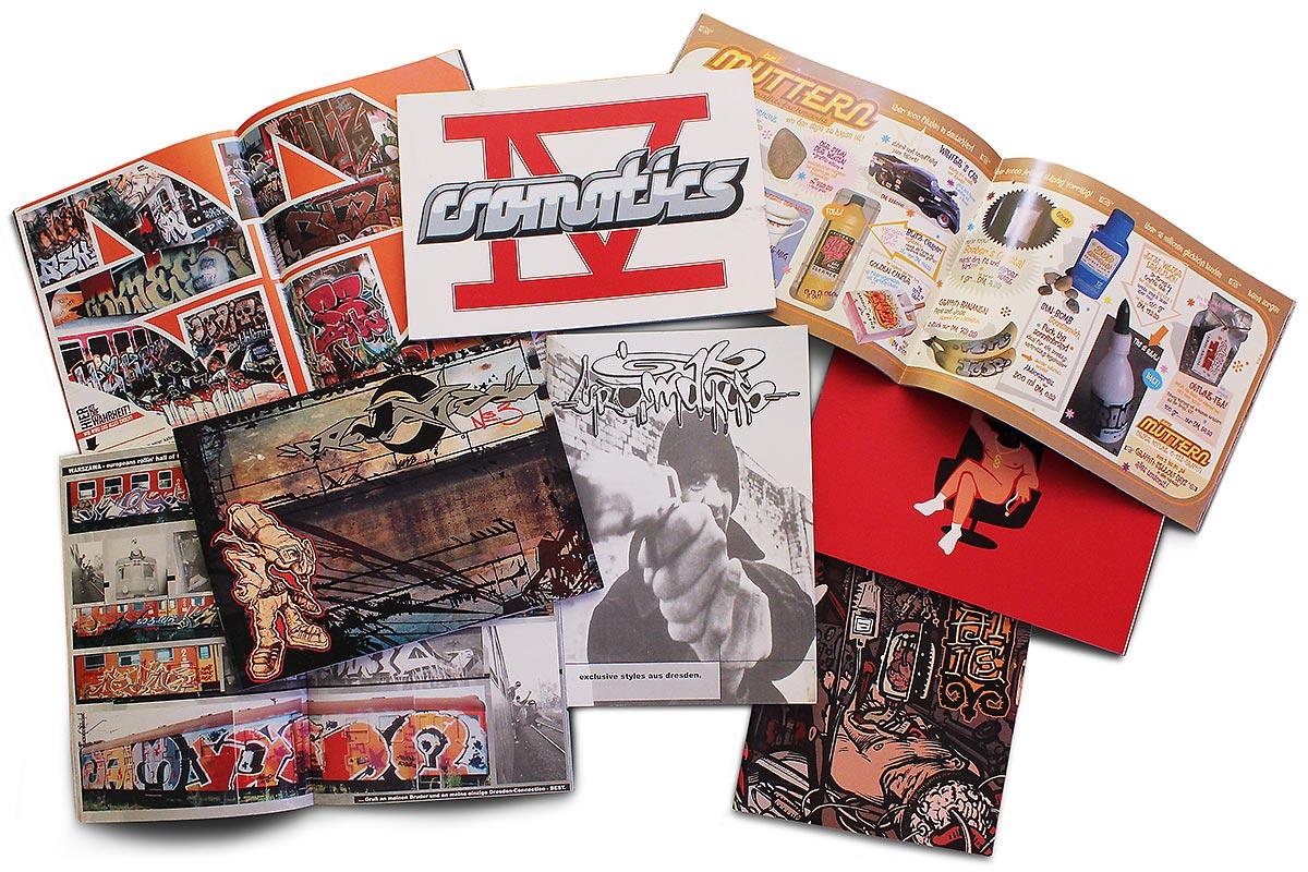 Die ersten Ausgaben von CROMATICS wurden in kleinen Auflagen gedruckt.