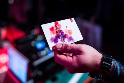 Die Kunstwerke der Capture App konnten die Gäste sich mitnehmen.