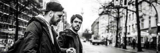 Immer und überall unterwegs. Christoph und Eric auf den Straßen Berlins.