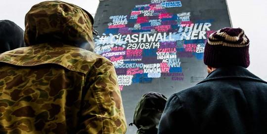 Die Converse Clash Wall vor dem OOH Event