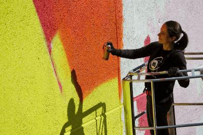 MadC hat schon etliche Murals in der ganzen Welt gemalt.