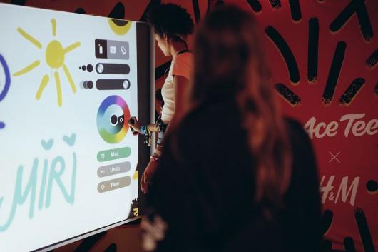 An der Digital Wall konnten die Gäste selbst kreativ werden.