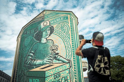 Beliebtes Fotomotiv ist unser Mural