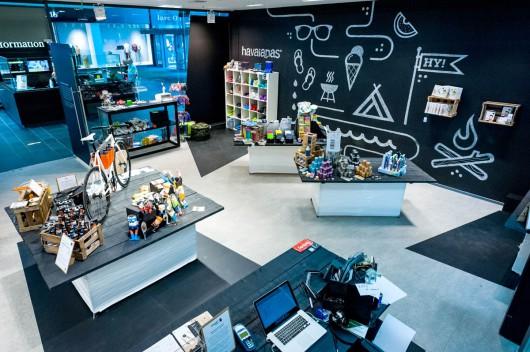 Überblick über den Hy-Pop-Store in Dresden. PR von CROMATICS.