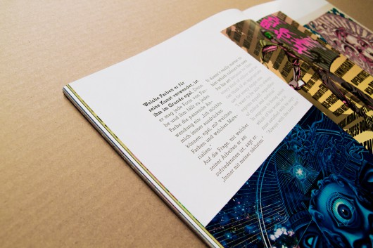 Passend zu den Texten wurden farbenreiche Bilder ausgewählt.