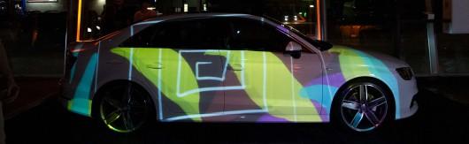 Der AUDI A3 mit Kunst getaggt.