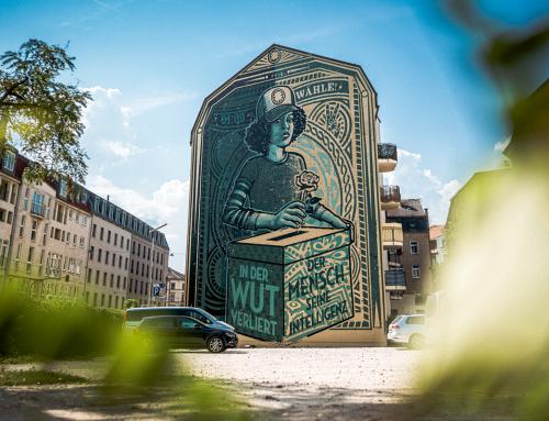 Größtes Wahlwerbemotiv in Sachsen