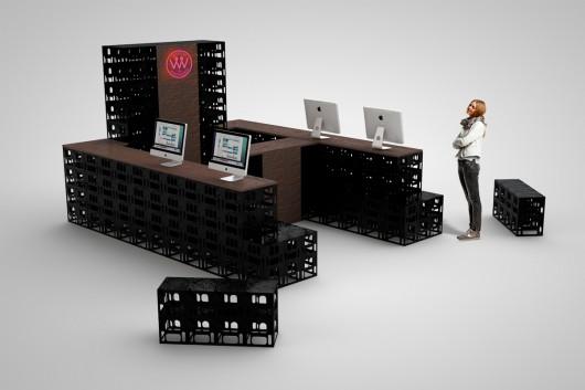 Der Stand kann in verschiedenen Varianten aufgebaut werden.