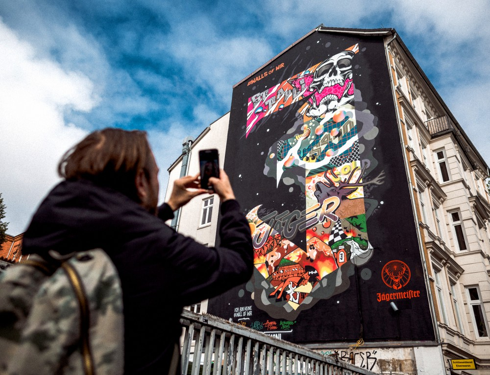 Jägermeister feiert Graffiti