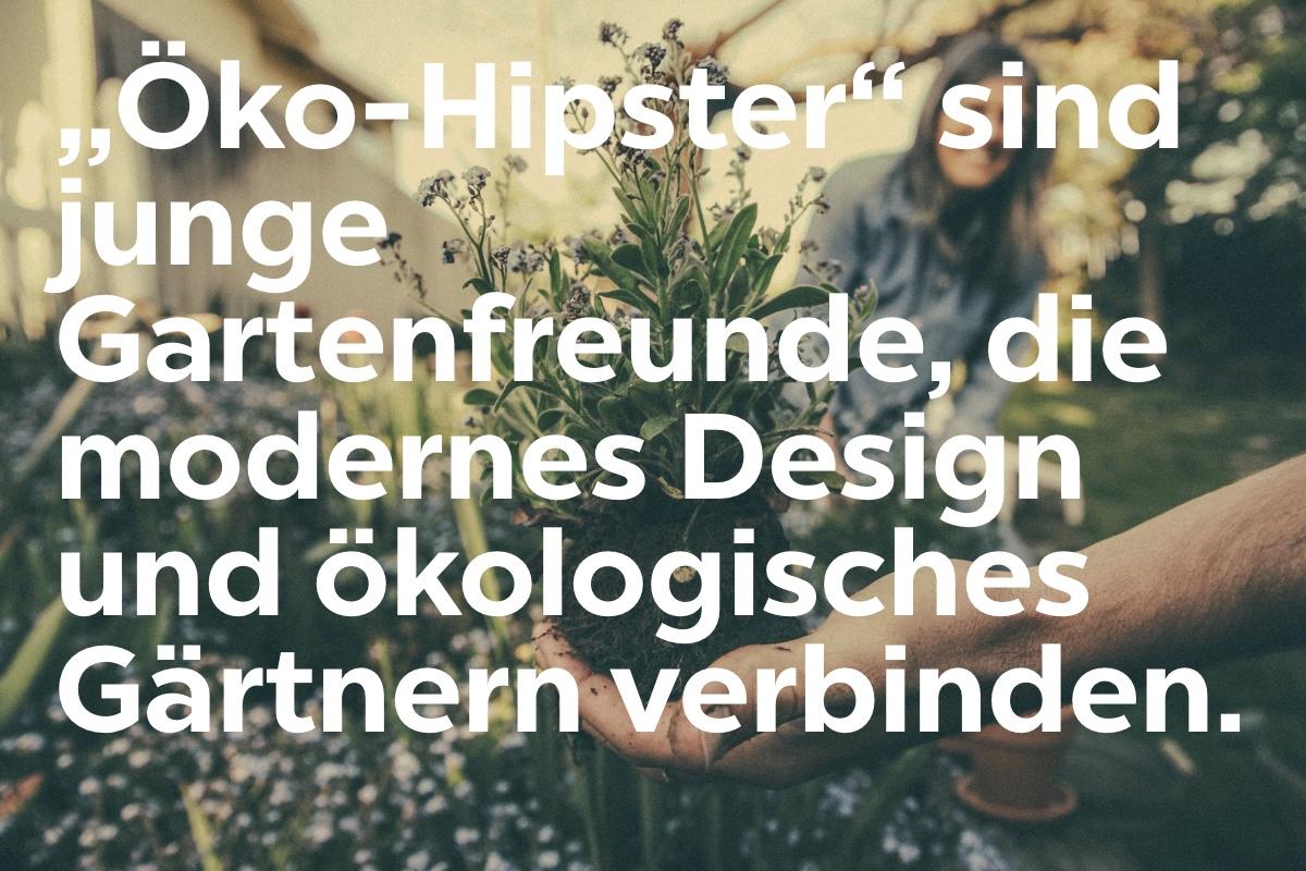 Die Zielgruppenanalyse hat ergeben, dass die Oeko-Hipster modernes Design und oekologisches Design verbinden.