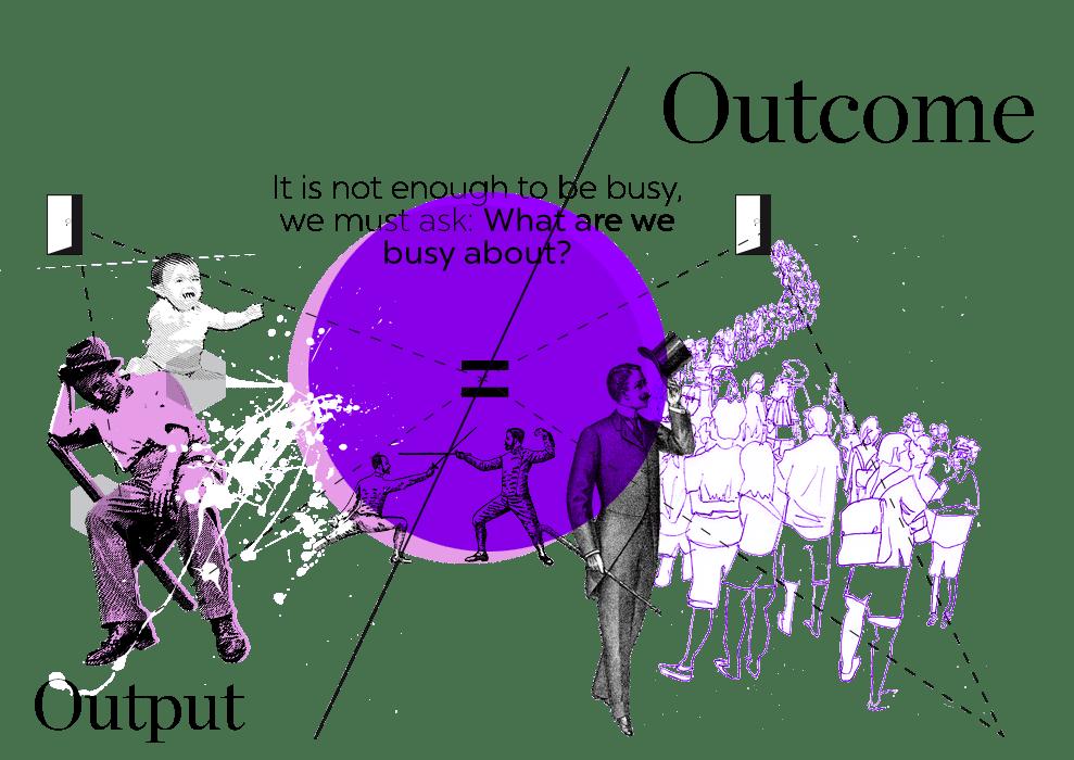 Output war gestern wir streben den Outcome an, um möglichst alles aus unseren Ideen heraus zu holen.