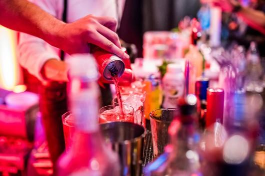 Red Bull Drinks wurden an mehreren Bars gemixt.