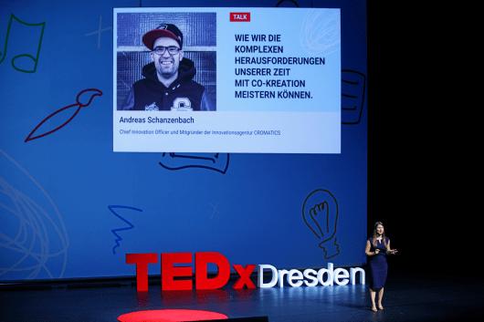Andreas Schanzenbach spricht beim TEDx Dresden über Co-Kreation.