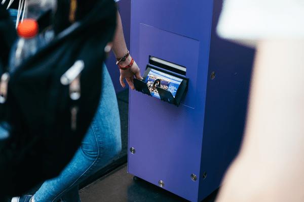 Die Fotos der Social Box konnte man sich ausgedruckt als Magnet mitnehmen.