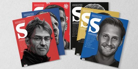 Die Cover des Socrates Magazins sind bunt ein Hingucker.