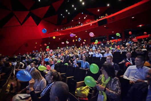 Das Publikum hatte beim Co-Kreationsvortrag viel Spaß gehabt.