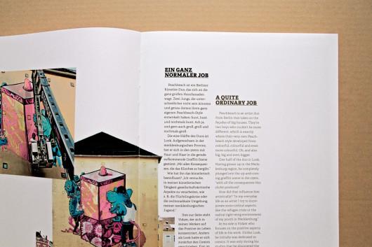 Der Künstler Peachbeach berichtete von seinen Erfahrungen in der Street Art Szene.