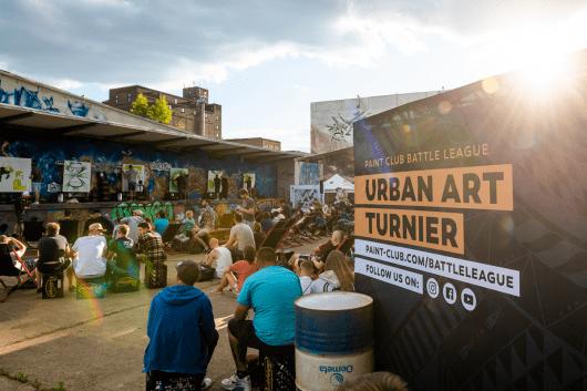 Die Szenografie für die Urban Art Battles stammt von CROMATICS.
