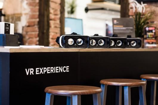 Die VR Experience lud Gäste zu neuen unbekannten Orten in Berlin ein.