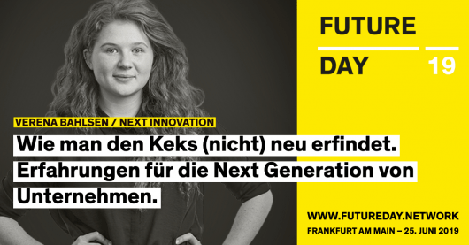 Verena Bahlsen ist beim Future Day 2019 in Frankfurt dabei.