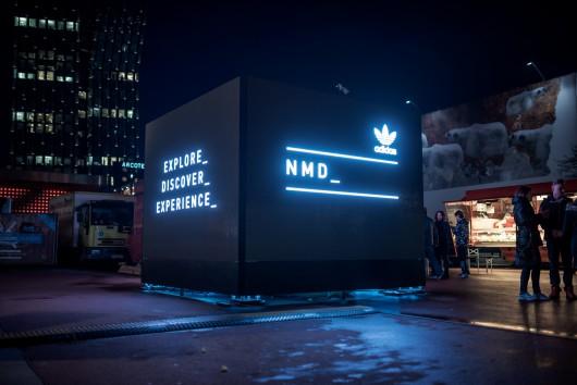 Auch in Hamburg steht einer von vier adidas NMD Cubes. Sie verbinden via Instagram die Cubes in ganz Europa- Locationscouting übernahm CROMATICS.