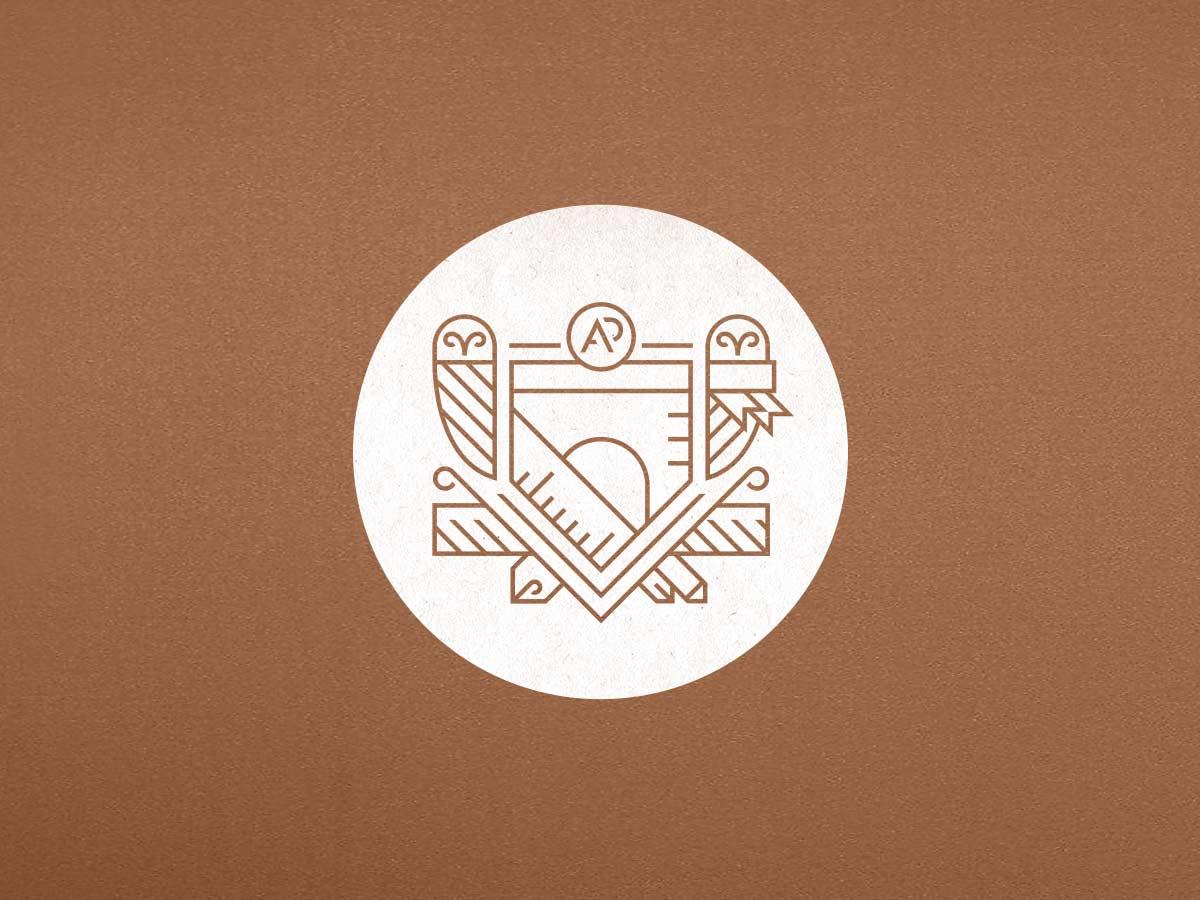 Logo von Alexander Pötzsch Architekten. Logoentwicklung von CROMATICS.