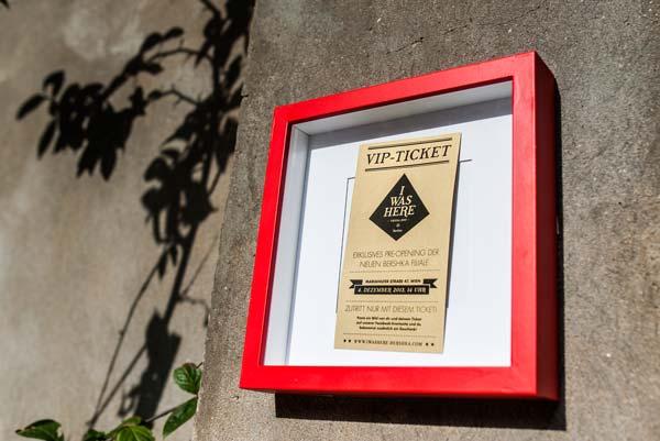 Die Store Opening Kampagne der Wiener Bershka Stores, versteckte VIP Tickets in der ganzen Stadt.