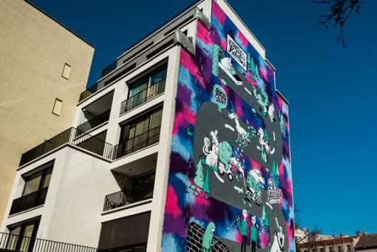 Die Converse Clash Wall in Berlin Mitte, eine der ersten OOH Aktionen von CROMATICS.