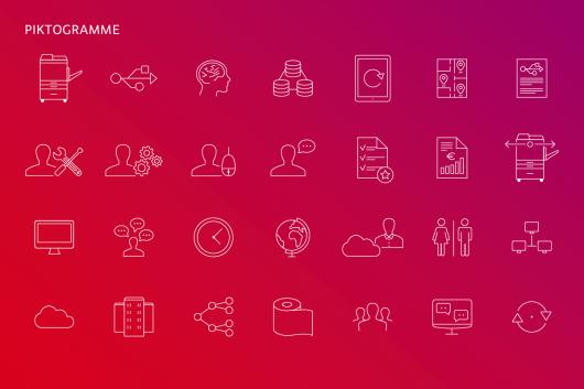 Neue Marke, neues Design, neue Piktogramme. Alle von CROMATICS entwickelt. Neue Markendesign für e-dox.