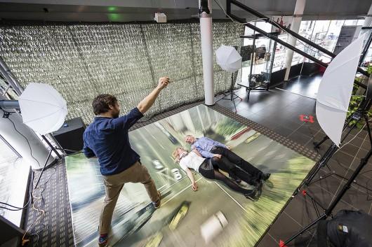 Die große Free Fall Aktion mit unserem Partner Thomas Schlorke, jeder Gast konnte sich in einer fallenden Perspektive fotografieren lassen.