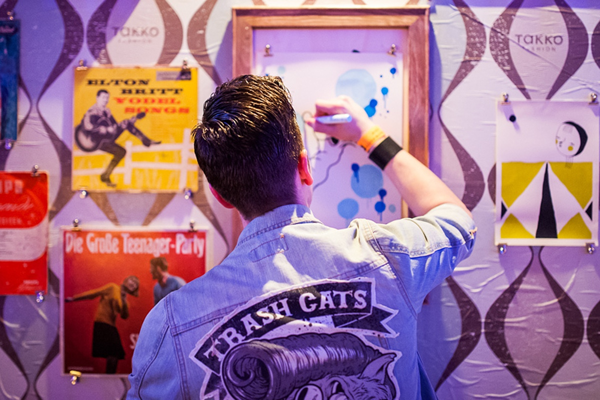 Die Künstler zeigen was sie können auf dem ECHO 2013 in der Takko Lounge.