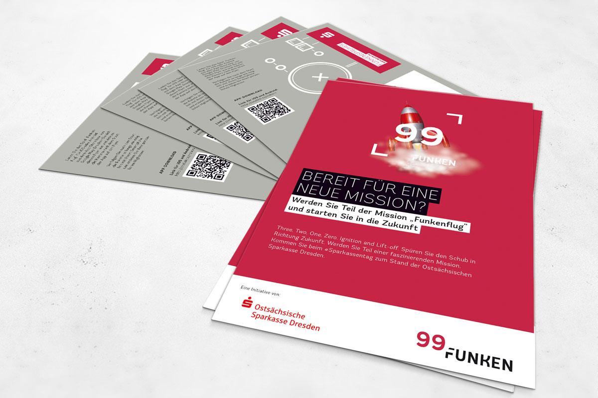 Die Flyer, sowie alle Druckmaterialien stammen von CROMATICS.