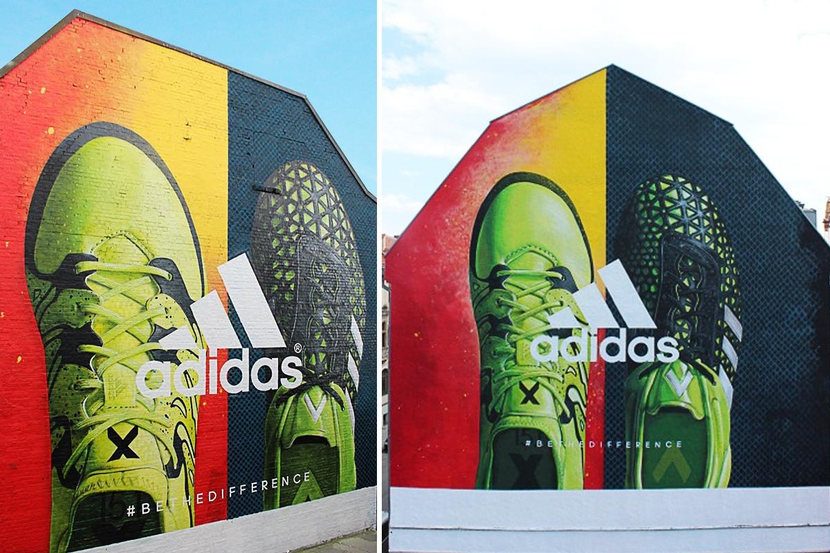 Die Kampagne fand in Hamburg und München eine Umsetzung als Fassadenwerbung.