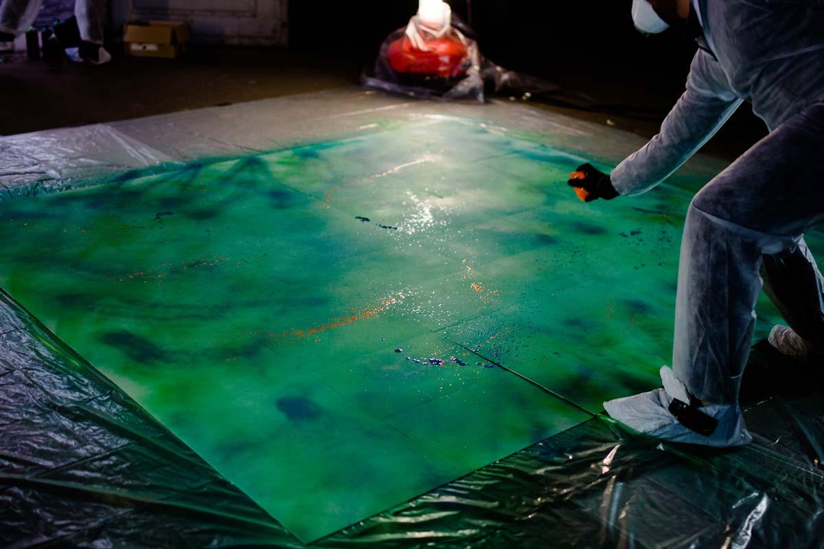 Das International Year of Global Understanding läutet CROMATICS mit einer Graffiti Aktion ein.