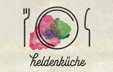 heldenküche: Markendesign für das Startup aus Leipzig. Hier das Hauptlogo.