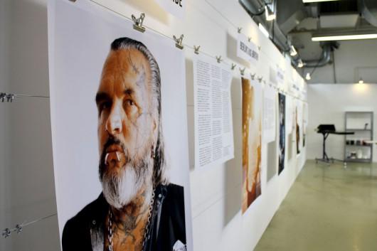 Wall of Fame in der Levis Werkstatt zum Siebdrucken. CROMATICS macht es möglich.