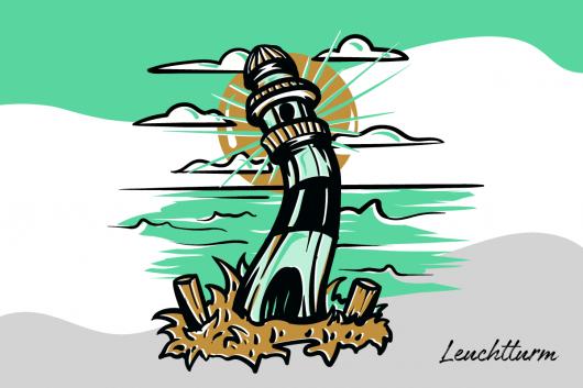 Der Leuchtturm steht für die Ostsee und Mecklenburg-Vorpommern.
