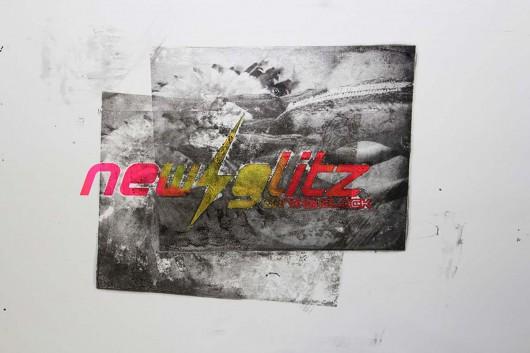 Wanddruck in der Go Forth Werkstatt in Berlin. PR von CROMATICS.