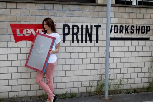 Siebdruck ist das Mode Thema in Berlin. Besonders im Levis Print Workshop.