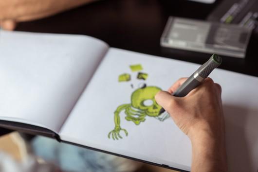 Ein neuer Sketch für Jägermeister entsteht.