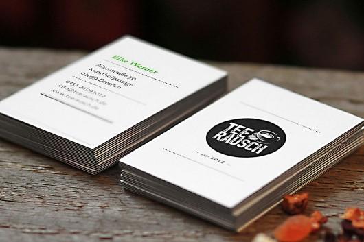 Natürliche Materialien auch bei der Kommunikation mit Letterpress Visitenkarten.