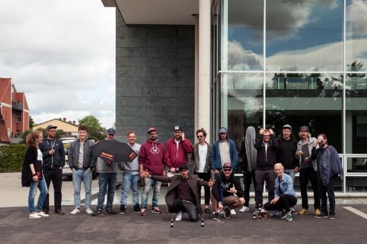 Alle Artists besuchten das Jägermeister HQ in Wolfenbüttel, um gemeinsam Ideen für die Murals zu entwickeln.